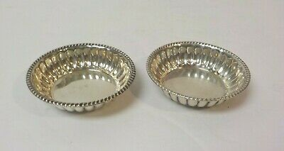 Pair Sterling Silver Salt Cellars or Nut Dishes, No Monograms, 50 grams