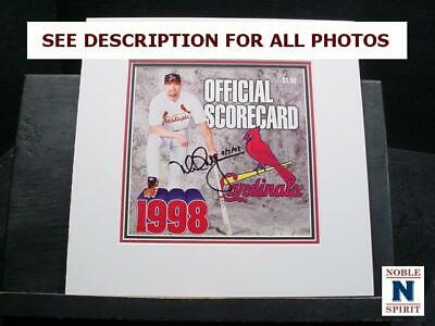 NobleSpirit  NO RESERVE (3970) Mark McGwire Autographed 1998 Official Scorecard