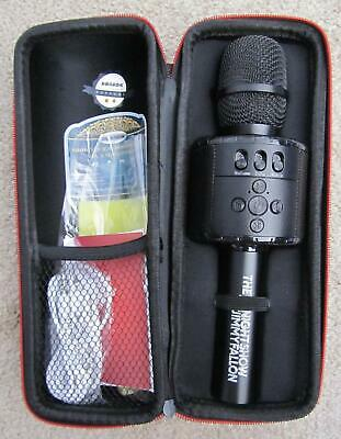 BONAOK Wireless Bluetooth Karaoke Microphone with Controllable LED Lights NEW