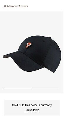 Rare Nike Tiger Woods Heritage 86 Frank Hat golf Black Limited Sold Out TW Real!
