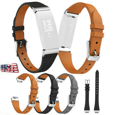 For Fitbit Inspire/HR Soft Leather Watch Wristband Band Replacement Strap USA