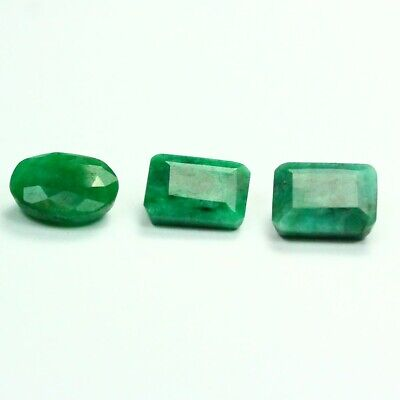 20.20 ct Set of Faceted Natural Emerald Gemstones - Exact Lot Shown 9845
