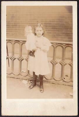 Beatrice Lindner Cabinet Photo - Pretty Girl Holding Toy Doll