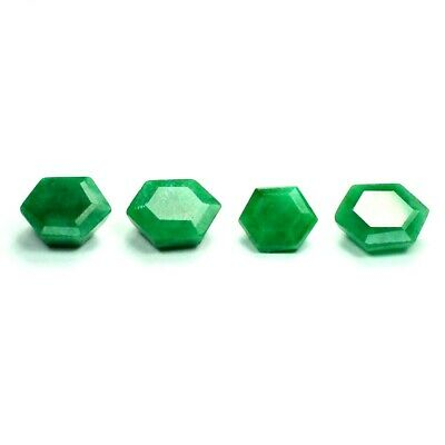 26.85 ct Set of Faceted Natural Emerald Gemstones - Exact Lot Shown 9847