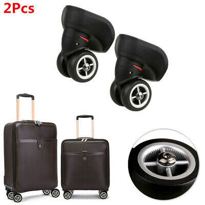 2x Heavy Duty A08 Mute Wheels 360° Swivel Castors for Luggage Trolley Case Parts