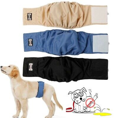 Washable Male Dog Belly Band Wrap Waterproof Reusable Male Pet Dog Diapers XS-XL