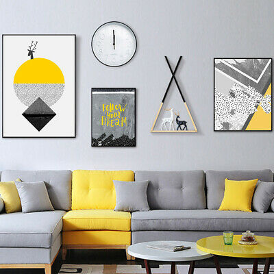 Modern Abstract Frameless High Quality Canvas Painting Living Room Wall Art