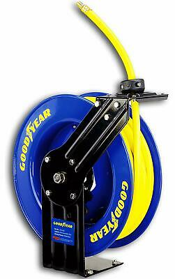Goodyear L815153G Steel Retractable Air Compressor/Water Hose Reel with 3/8 in.