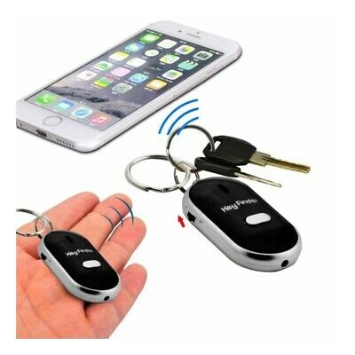 Whistle Lost Key Finder Flashing Beeping Locator Remote Chain LED Sonic Torch GL