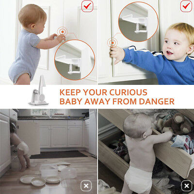 Baby Safety Magnetic Cabinet Locks Invisible Child Proof Cupboard Drawer Kid