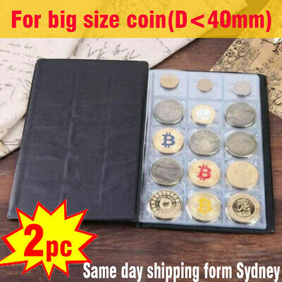 2x 150 large slots Australian 50c Coin Album Holder Storage Book Suit AU 50 cent