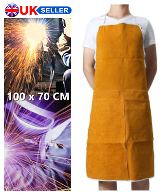 Best Cow Leather Welder Welding Apron FULL Protect Heat Proof Butcher Blacksmith