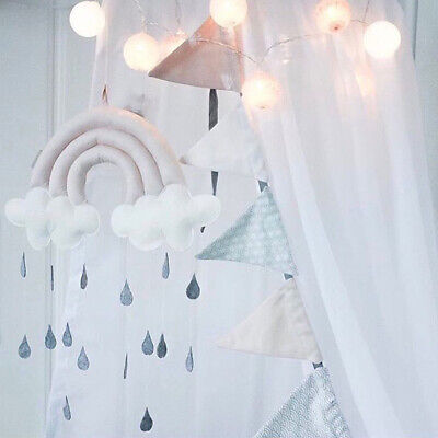 Mobile Hanging Cloud Raindrop Props Pendant Toy Baby Crib Nursery Accessories AU