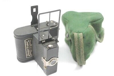 Ensign Cupid Box type camera. Green / Blue finish, Uncommon, Good Condition