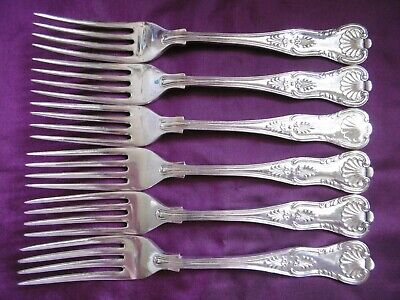 Lovely Set Of 6 Silver Plated Epns Walker & Hall Kings Pattern Dinner Forks