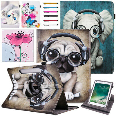 """For Huawei MediaPad T5 (10.1""""inch) Tablet 360° Universal PU Leather Case Cover"""