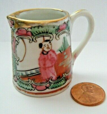 Antique Vintage Japan mini Pitcher Porcelain Hand Painted  for  Doll Bears MARK