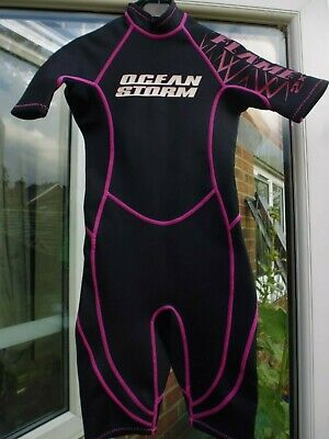 Ocean Storm Black with Pink Detail Wetsuit ..Age 6 Years
