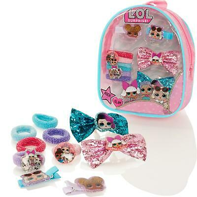 LOL Surprise Hair Accessory Mini Backpack Set Bow Clips Bobbles Ponies