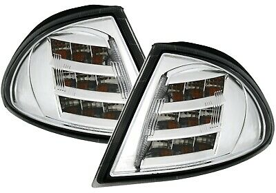 LED FRONTBLINKER SET für 3er BMW E46 Limo + Touring in CHROM BLINKER EAGLE EYE