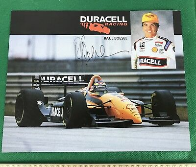"Raul Boesel Signed Autographed Duracell Racing. 8"" X 10"""