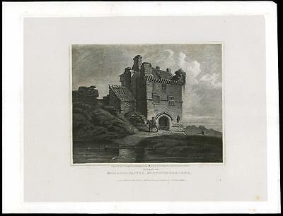 1814 NORTHUMBERLAND - MORPETH CASTLE - Large Original Antique Print (17)