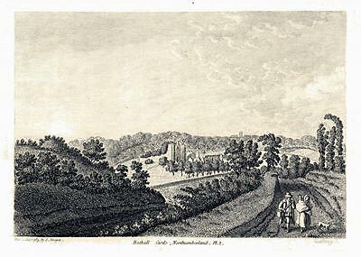 "1783 Original Antique Print ""BOTHALL CASTLE"" Pl.2 Morpeth Northumberland (R135)"