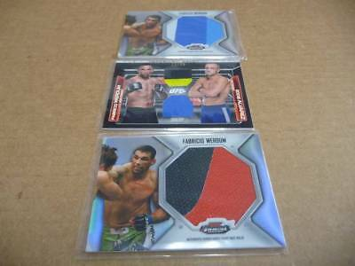 Fabricio Werdum UFC Lote de 3 Topps Mejores Tapete Knockout Relic Swatch