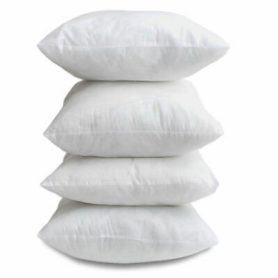 """Pack of 4 18""""x 18"""" Hollow Fibre Cushion Pads Inner Fillers Inserts Sofa Cushions"""
