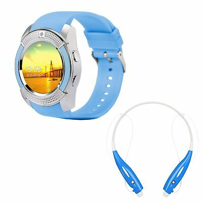 Unisex Kid Bluetooth Smart Wrist Watch Headset For IOS Android iPhone Samsung