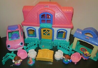 Fisher Price Little People Sweet Sound Dollhouse Cradle Family House Home Lot