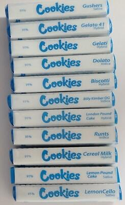 COOKIES 1ML EMPTY 510 Thread VAPE CARTRIDGE  With Packaging  *Various  Flavours*
