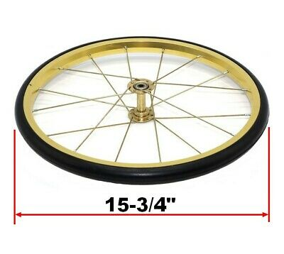 """Replacement Popcorn Machine Cart Wheel Gold 15-3/4"""" Fits Great Northern & More"""