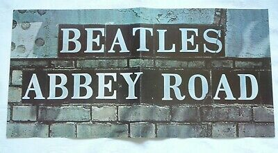 The Beatles Abbey Road Vintage Poster With Bonus