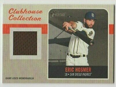 2019 Topps Heritage High Number Clubhouse Collection Eric Hosmer Relic PADRES