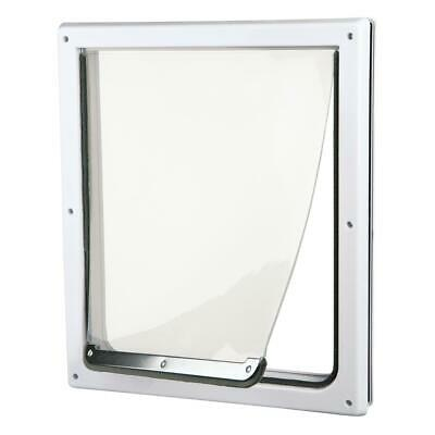 2 Way Locking Pet Dog Door For Medium to X-Large Dogs Cats Warm Cold Weather