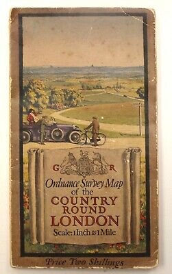 ORDNANCE SURVEY MAP OF THE COUNTRY ROUND LONDON - Vintage Map - W45
