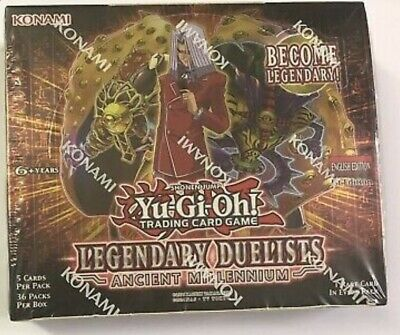 Yugioh LED2 Legendary Duelist Ancient Millennium BOOSTER BOX English 1st.Ed. OVP