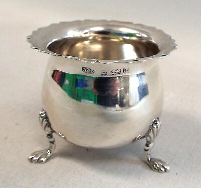 Small Antique ASHTON & SON Late 19th Century Solid SILVER 3 Footed Dish - P22