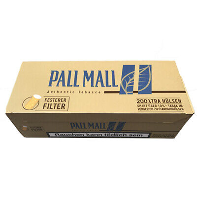 200 Pall Mall Authentic Blue Xtra Filterhülsen