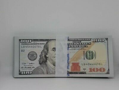 New super realistic Prop Movie Money $10000 for YouTube Videos lot of 100