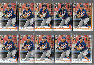 Lot of (10) Pete Alonso 2019 Topps Series 2 #475 Rookie RC New York Mets