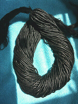 Jet Heishi Beads 2 - 3 mm Jet Heishi 13 - 14 Inch Strand Price is for ONE Strand