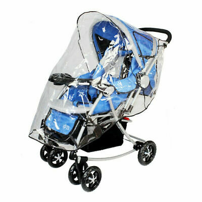 Large Universal Buggy Pushchair Stroller Pram Transparent Rain Cover Baby 2 Size