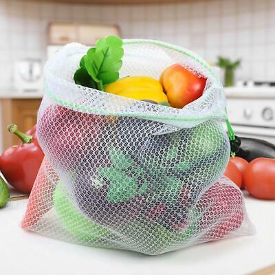 1pc Reusable Mesh Produce Bags Grocery Fruit Vegetable Sundries Storage Pouch