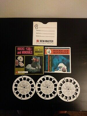 Vintage View-Master 3-Reel Set Rocks And Minerals Complete Packet