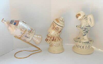 Nasa Apollo Astronaut And Space Capsule Sims Distillers Mccoy Pottery Decanters