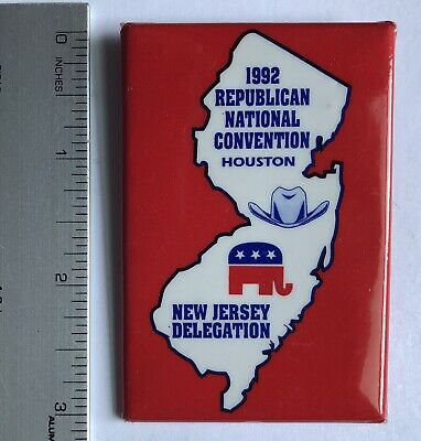1992 Republican National Convention, New Jersey Delegation in Houston Button
