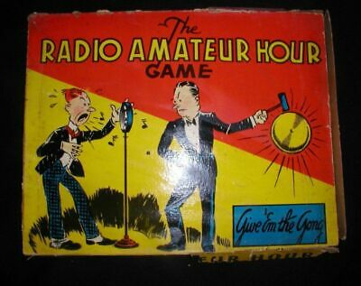The Radio Amateur Hour Game~Give Em The Gong~1930s Board Game~Scarce !
