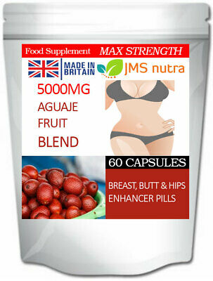 Big Breast Butt and Hips Enhancement Curvy Pills Aguaje Fruit Blend 5000mg